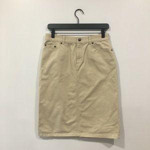 Ralph Lauren Khaki Pencil Skirt